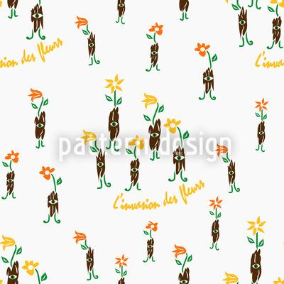 Invasion Des Fleurs Repeat Pattern