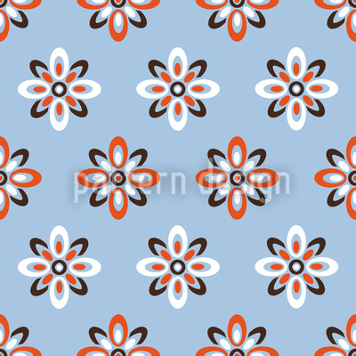 Sky Flowers Pattern Design