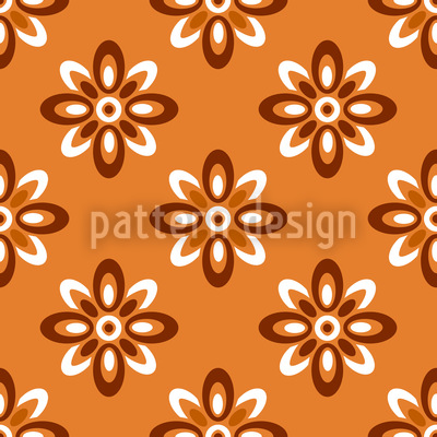 Aurora Flowers Vector Ornament