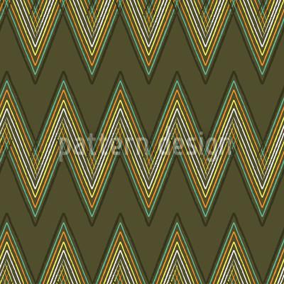 Zick Zack Grün Muster Design