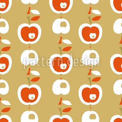 リンゴ・イン・キャラメル シームレスなベクトルパターン設計