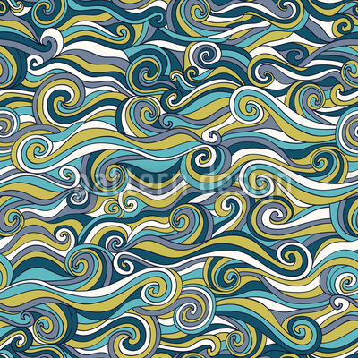 Stormy Sea Repeating Pattern