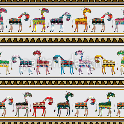 The Cows Of Chichen Itza Vector Pattern