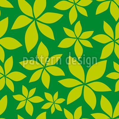 Junge Kastanienblätter Muster Design