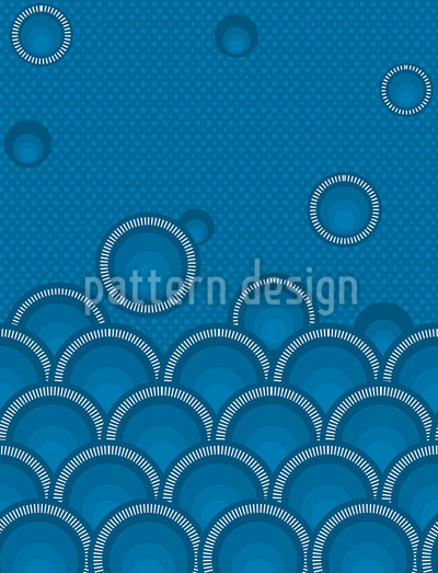 Ocean Of Circles Seamless Pattern