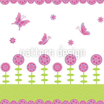 Butterfly Happiness Seamless Vector Pattern Design