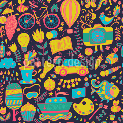 Funny Leisure Time At Night Vector Design