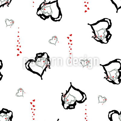 Melting Hearts Vector Ornament