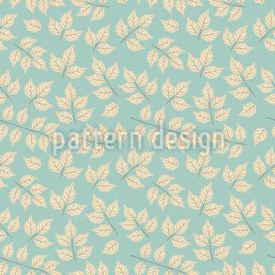 Ahornblatt Im Winterkleid Vektor Muster