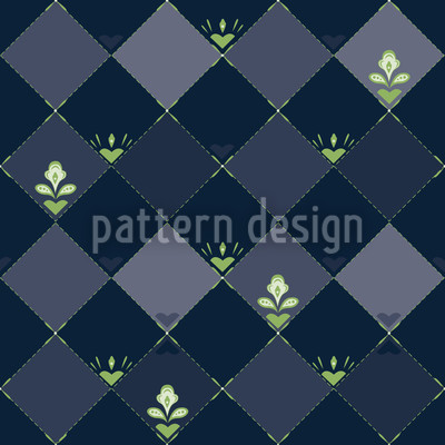 Schachbrettblumen Vektor Muster