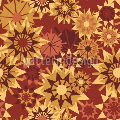 Sternen Herbst Rapportiertes Design