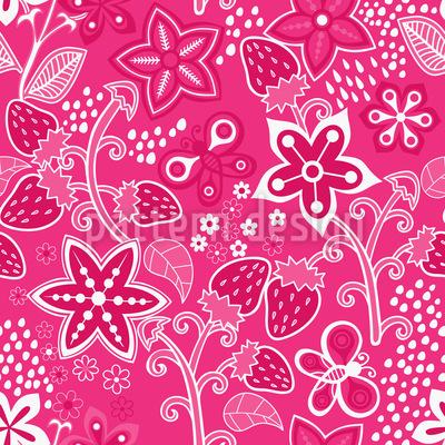 Erdbeer Geheimnis Vektor Design