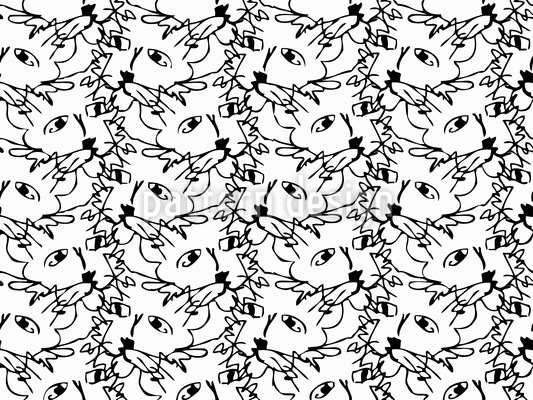 Frisky Cats Repeat Pattern