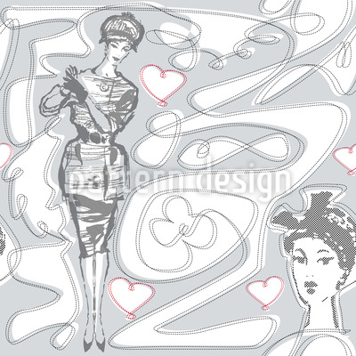 Miss Moneypenny Pattern Design