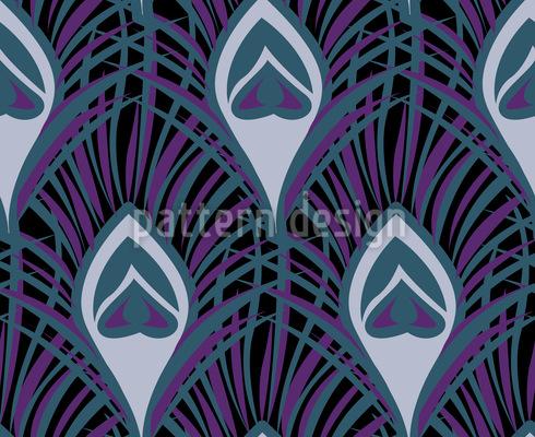 Nächtliche Pfauenfedern Nahtloses Muster