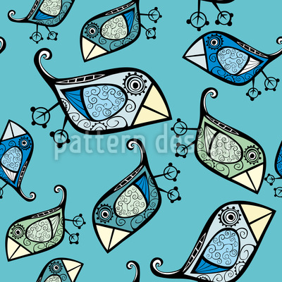 Little Birds Of Paradiese Seamless Vector Pattern