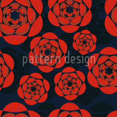 Night Roses Vector Pattern