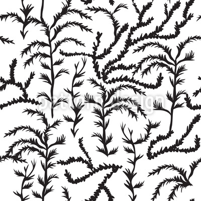 Cypress Impression Seamless Vector Pattern