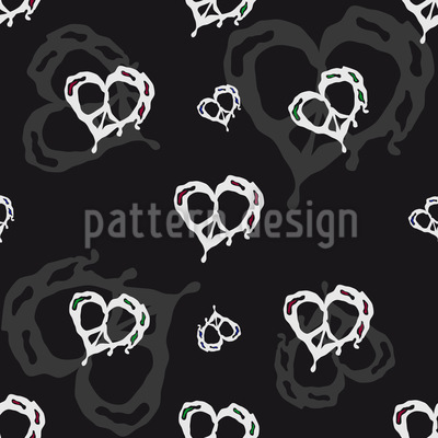 Herz In Frieden Rapportiertes Design