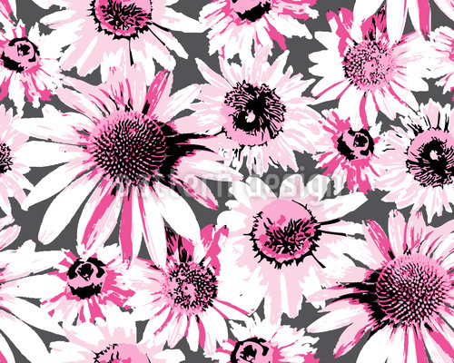 Pop art sea of flowers repeat for Pop design flower