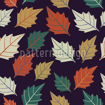 Leaf Bohemian Vector Pattern