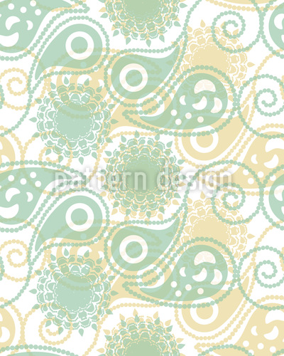 Spring Paisleys Seamless Vector Pattern Design
