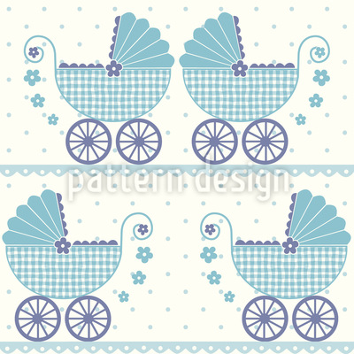 Baby Timmys Buggy Seamless Vector Pattern Design