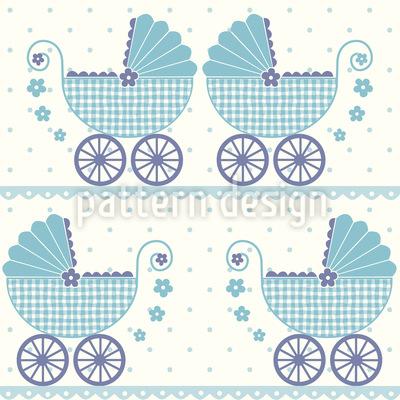 Baby Timmys Kinderwagen Nahtloses Muster