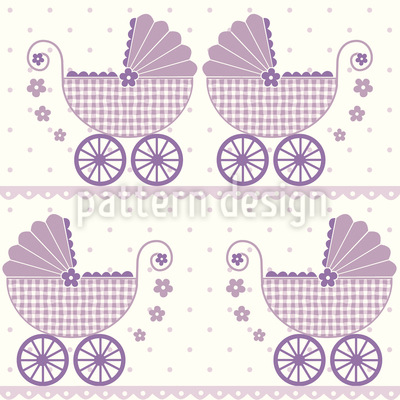 Baby Lauras Kinderwagen Vektor Design