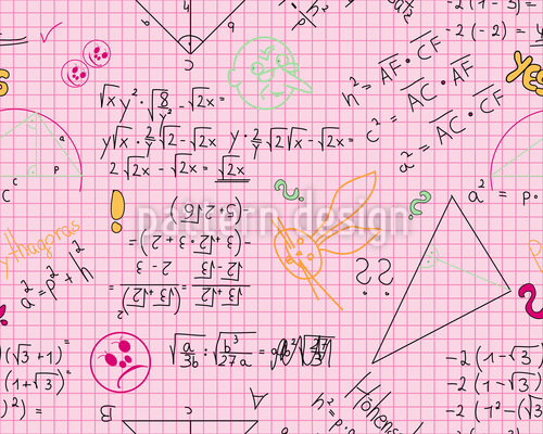 Math Is Real Fun Seamless Vector Pattern Design