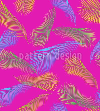 Avant Garde de Folha de Palmeira Design de padrão vetorial sem costura
