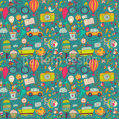 Life Can Be So Wonderful Vector Pattern