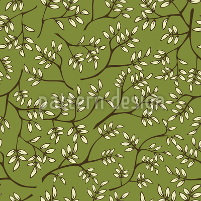 Branches In Spring Seamless Vector Pattern Design