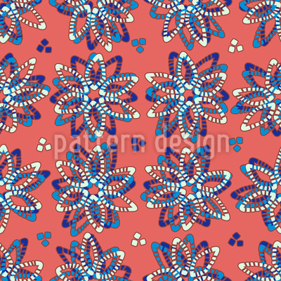 Stone Flowers Vector Ornament