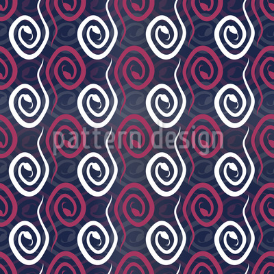 Snake Curls Seamless Pattern