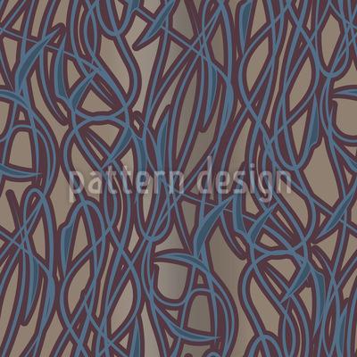 Art Nouveau Mysterios Nahtloses Vektormuster