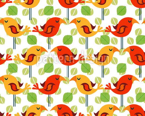Bird Siesta Repeating Pattern