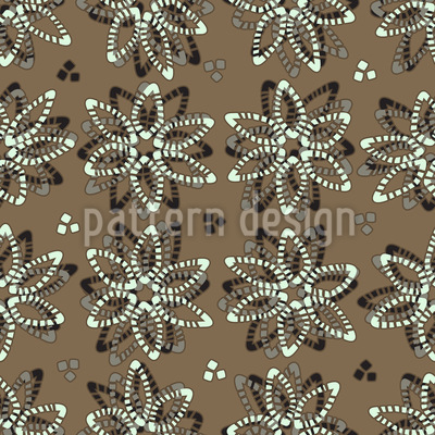 Delicate Stone Flowers Pattern Design