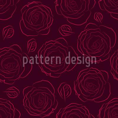 Ihre Geliebten Rosen Nahtloses Vektormuster