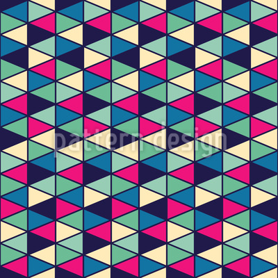 Triangle Fantasy Seamless Pattern