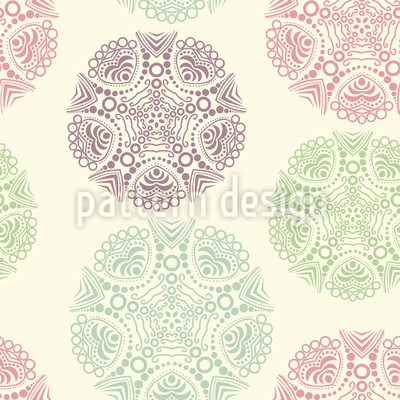 Soft Dolies Seamless Vector Pattern