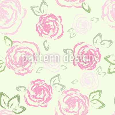 Little Roses Seamless Vector Pattern Design