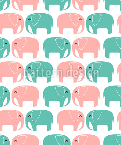 Elephants In Love Vector Design