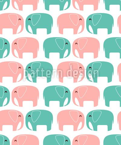 Verliebte Elefanten Nahtloses Vektormuster