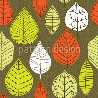 Blätter Mit Stil Nahtloses Vektormuster