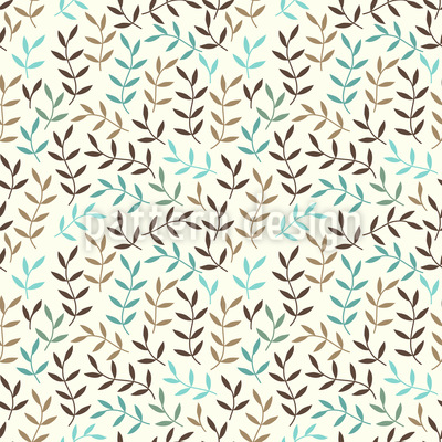 Leaves Bohemian In Winter Vector Pattern