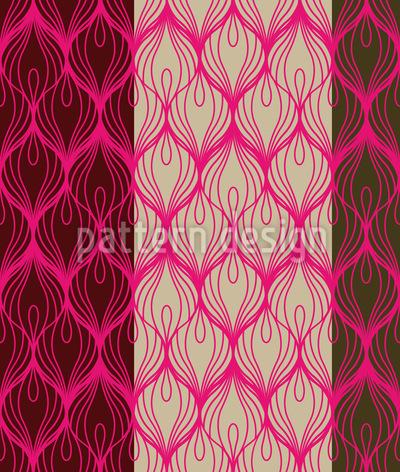 Peacocks Wear Pink Seamless Vector Pattern Design