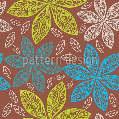 Polynesische Flora Nahtloses Vektormuster