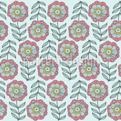 Softness In The Flower Bed Seamless Vector Pattern Design