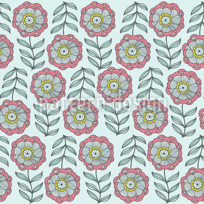 Zartheit Im Blumenbeet Designmuster